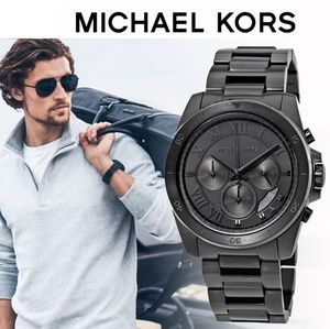 **NEW** Michael Kors Brecken Chrono Black IP Wat